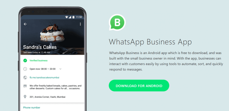 What are the benefits of the WhatsApp business app