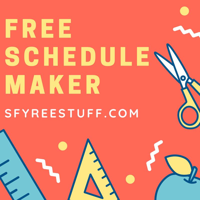free schedule maker