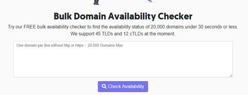 Rankz bulk domain checker or Bulk Domain Availability Checker