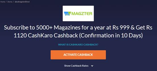 Magzter new cashback offer