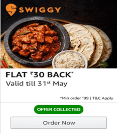 Swiggy Latest Coupons, Promo Codes and Offers for May 1