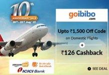 GoIbibo flight offers