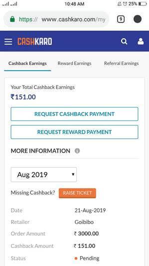 GOIBIBO OFFER Rs 1,500 Off Code on Domestic Flights + 126 CashKaro Cashback 1