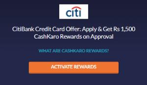 CitiBank Credit Card Offers Get Rs 1500 Cashback 1