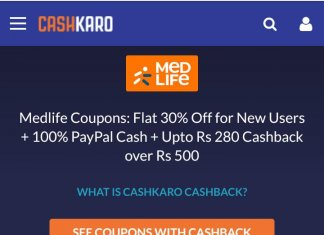 MedLife Coupons for New Users + 100% PayPal Cash