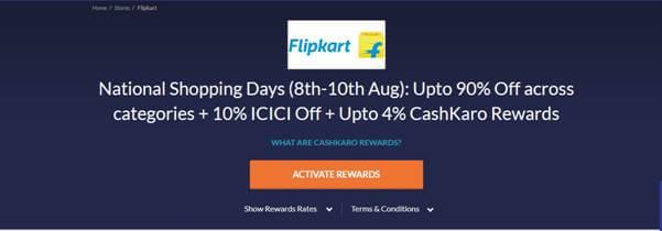 Flipkart National Shopping Days- Upto 90% Off 1
