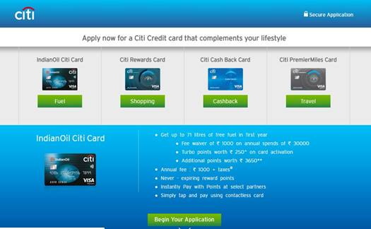 CITI Bank credit card best offers