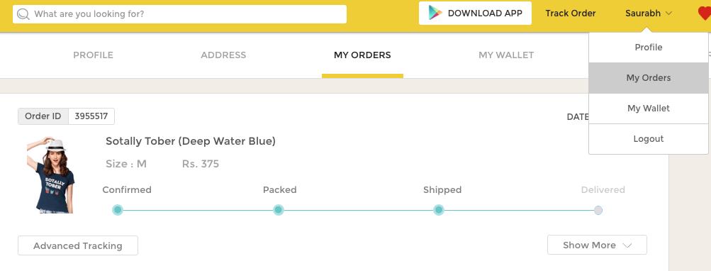 Myntra Tracking Order Online - Myntra Logistics Tracking